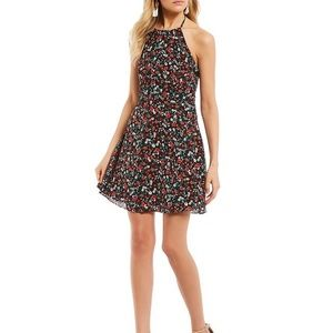 NWT B. Darlin Halter-Neck Floral Shift Dress